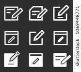 click icon   write symbol ... | Shutterstock .eps vector #1069448771