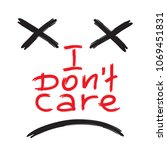 i don't care   emotional... | Shutterstock .eps vector #1069451831