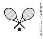 tennis racket vector template... | Shutterstock .eps vector #1069452839