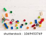 above view on different small... | Shutterstock . vector #1069453769
