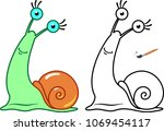 snail. coloring pages for... | Shutterstock .eps vector #1069454117