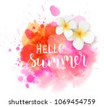 abstract watercolored grunge... | Shutterstock .eps vector #1069454759