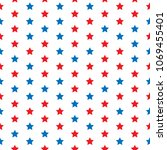 red and blue stars. seamless... | Shutterstock .eps vector #1069455401