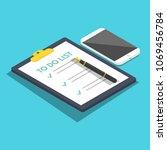 to do list isometric  planning... | Shutterstock .eps vector #1069456784