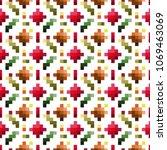 seamless pixel pattern. ethic... | Shutterstock .eps vector #1069463069