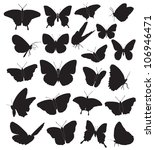 Butterflies  Black Silhouettes...
