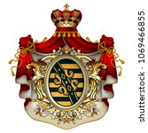 heraldic background with a red...   Shutterstock .eps vector #1069466855