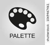 palette icon. palette symbol....