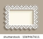 rectangle frame with ornamental ...   Shutterstock .eps vector #1069467611