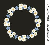 chamomile and forget me not...   Shutterstock .eps vector #1069469174