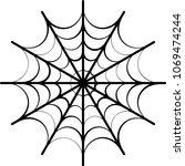 spider web icon design vector... | Shutterstock .eps vector #1069474244