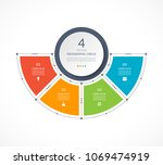 infographic semi circle in thin ... | Shutterstock .eps vector #1069474919