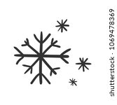 hand drawn snowflake vector... | Shutterstock .eps vector #1069478369