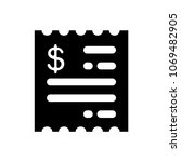 invoice icon in flat style | Shutterstock .eps vector #1069482905
