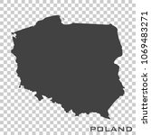 vector icon map of poland  on... | Shutterstock .eps vector #1069483271