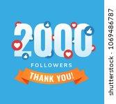 2000 followers  social sites... | Shutterstock .eps vector #1069486787