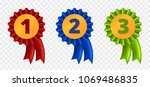 ribbon award  three variants  ... | Shutterstock .eps vector #1069486835