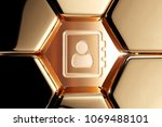 golden address book contour... | Shutterstock . vector #1069488101