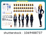woman architect in business... | Shutterstock .eps vector #1069488737