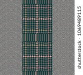 elegant english tweed tecture.... | Shutterstock .eps vector #1069489115
