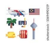 Travel To Malaysia Pixel Art...