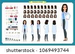 female doctor character... | Shutterstock .eps vector #1069493744