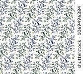 seamless botanical pattern of... | Shutterstock .eps vector #1069496384