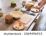 culinary class for children and ... | Shutterstock . vector #1069496915