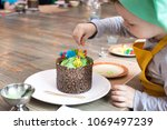 culinary class for children and ... | Shutterstock . vector #1069497239