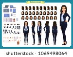 set of businesswoman character... | Shutterstock .eps vector #1069498064