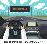 drive safety concept. the... | Shutterstock .eps vector #1069503377