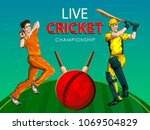 concept of sportsman playing... | Shutterstock .eps vector #1069504829