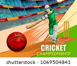 concept of sportsman playing... | Shutterstock .eps vector #1069504841