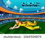 concept of sportsman playing... | Shutterstock .eps vector #1069504874