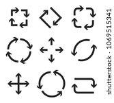 arrows in circular motion.... | Shutterstock .eps vector #1069515341