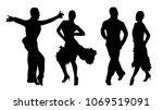 vector dancers silhouettes | Shutterstock .eps vector #1069519091