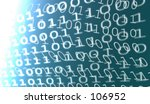 overlaid binary code on a blue... | Shutterstock . vector #106952