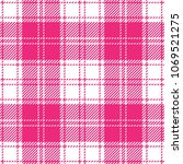 pink girlish tartan plaid...   Shutterstock .eps vector #1069521275