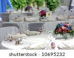 wedding reception tables | Shutterstock . vector #10695232