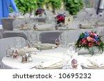 wedding reception tables   Shutterstock . vector #10695232