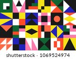 new minimalism in geometric... | Shutterstock .eps vector #1069524974