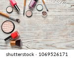 flat lay composition with... | Shutterstock . vector #1069526171