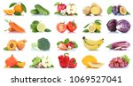 fruit many fruits and... | Shutterstock . vector #1069527041