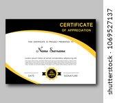 certificate of appreciation...   Shutterstock .eps vector #1069527137