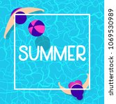 summer time background design... | Shutterstock .eps vector #1069530989
