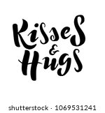 hugs and kisses text as... | Shutterstock .eps vector #1069531241