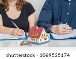 divorce and dividing a property ... | Shutterstock . vector #1069535174