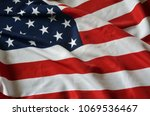 flag usa background | Shutterstock . vector #1069536467