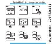 vector of perfect pixel 9 set....