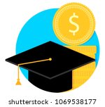 scholarship and study grant.... | Shutterstock .eps vector #1069538177